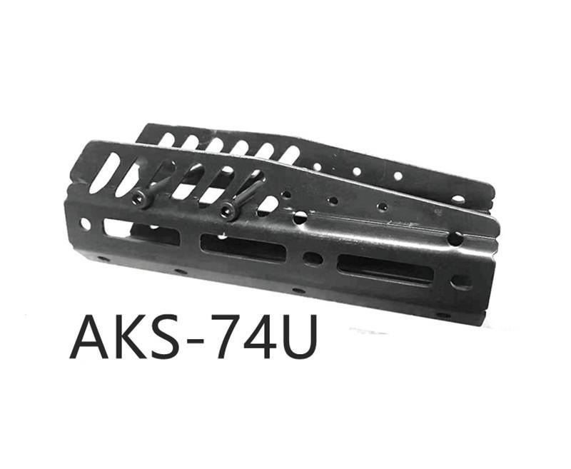 AK AKS 74U المعادن جميع الصلب تحت HANDGUARD التكتيكية HANDGUARD MLOK السكك الحديدية البصر قبضة جبل