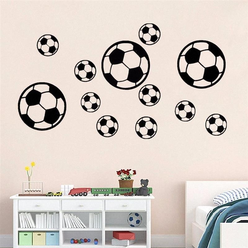 Boys Room Decoration Soccer DIY Self Adhesive Football Wall Sticker Children Bedroom Living Room Decoration Sticker 51jR#