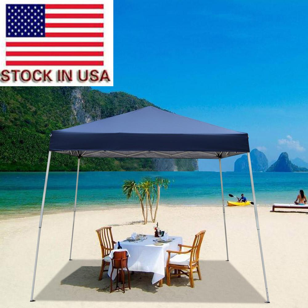 Tenda da spiaggia blu all'aperto Tende da sposa all'aperto Tende 3x3m Gazebo Baldacchino ombra portatile campeggio uso domestico uso impermeabile pieghevole