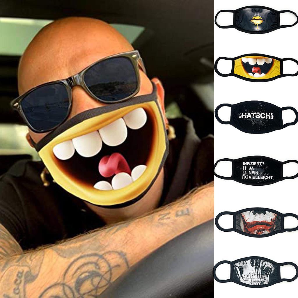 Fahrtraining Masken Männer und Frauen PM2.5 Motorrad Outdoor Sports Anti-Verschmutzung Austauschbare Filter Baumwolle Waschbar Personality Masken