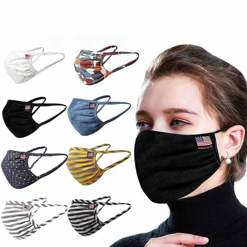 면 얼굴 마스크 호흡기 보호 남성 여성 얼굴 입 커버 미국 국기 안티 먼지 세척 귀는 루프 CGY06 마스크 마스크 마스크 통기성