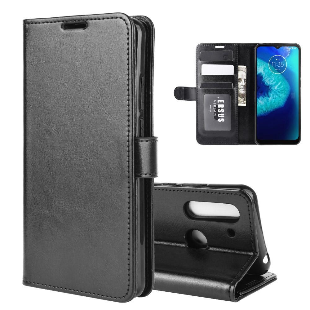 Für Motorola Moto G8 Netz Lite R64 Textur Einzel Horizontal Flip-Schutzhülle mit Halter-Karten-Slots Wallet-Foto-Rahmen