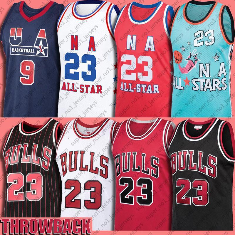 Bull 23 Michael Jersey MJ 33 Scottie Pippen Jerseys 91 Dennis Rodman Basketball Jersey North Carolina Throwback Weinlese