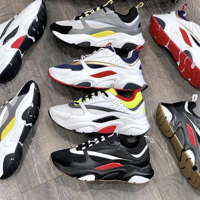 أحذية رياضية جديدة أوم B22 أحذية الرجال منصة بيضاء شبكة التقنية والعجل سميكة بيضاء المدربين المطاط كعب النساء الاحذية مع مربع