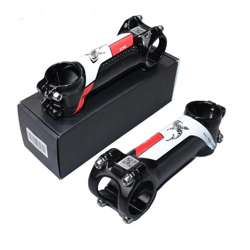 Carbono + Liga de alumínio de bicicleta Riser bicicleta de estrada Stem MTB bicicleta de montanha de bicicleta de estrada Stem 60/70 / 80/90/100/110/120 milímetros 28.6-31.8mm