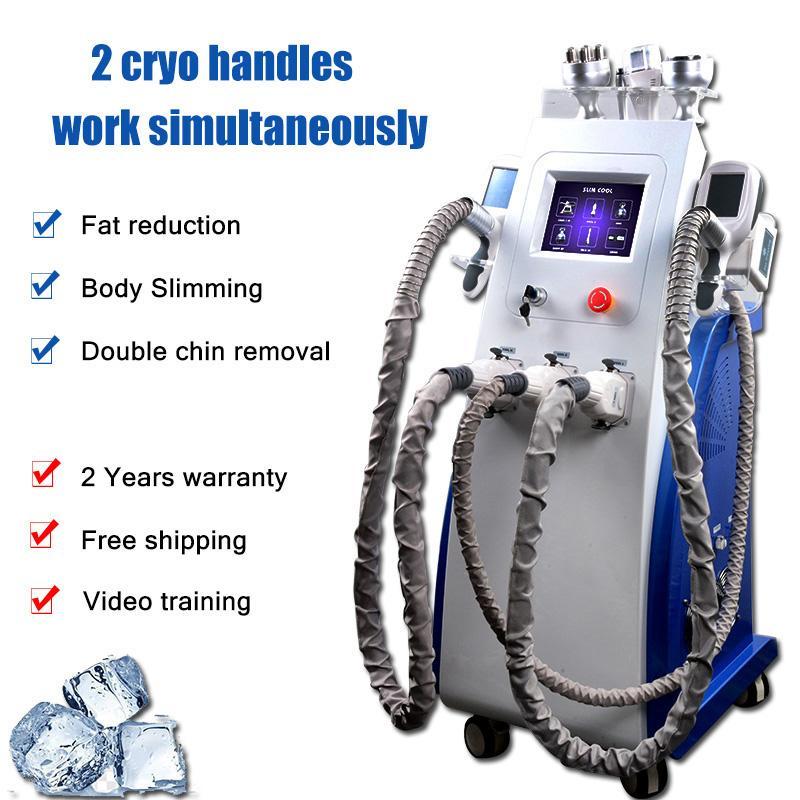 7 IN 1 CRYOLIPOLISIS вакуума кавитации Cryolipolysis машина РФ подтяжки лица лечение похудение Cryolipolysis CE утвержденный