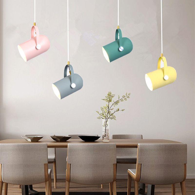 подвесной светильник Nordic Подвесные лампы Macaron алюминиевый LED для кухни Ресторан Свет Потолочные Светильники домашнего освещения PA0323