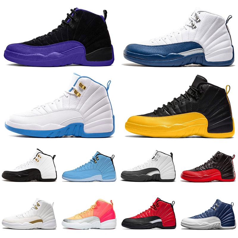 أحذية air jordan Retro 12 aj 12s jumpman احذية كرة السلة XII DARK CONCOR Stone Blue BULLS REVERSE FLU GAME Golden FIBA الرجال النساء Trainers Sports Sneakers