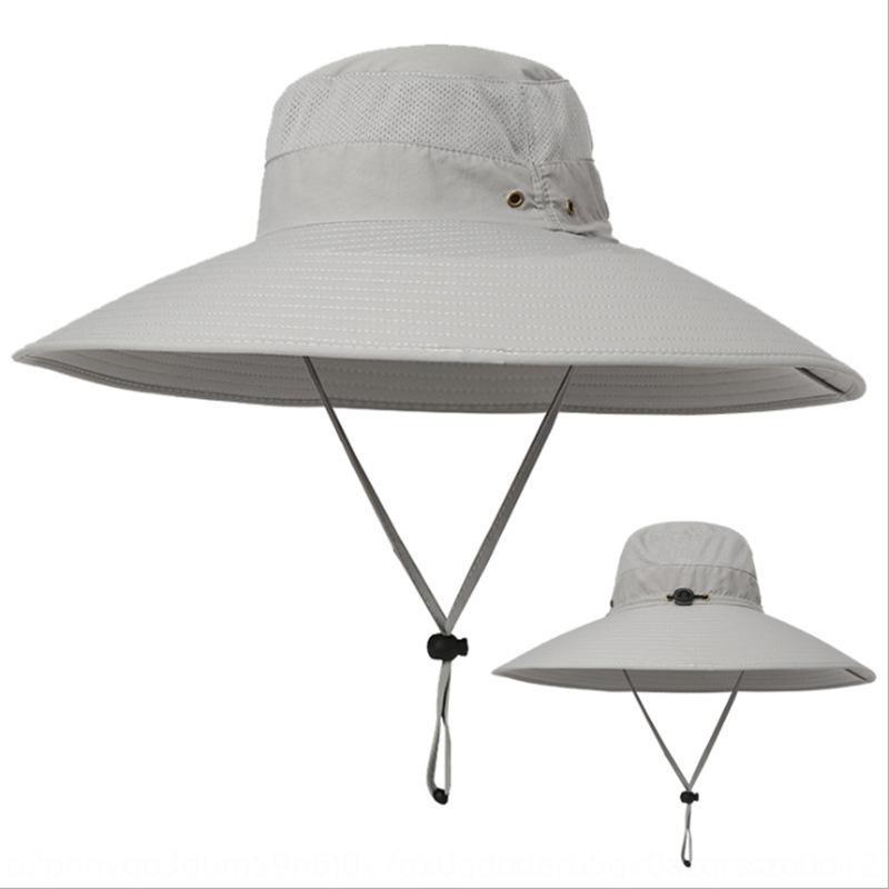 Yaz erkekler açık hava eğlence geniş saçaklı balıkçı kap güneş geçirmez kova kova nefes UV geçirmez güneş şapkası balıkçı şapkası