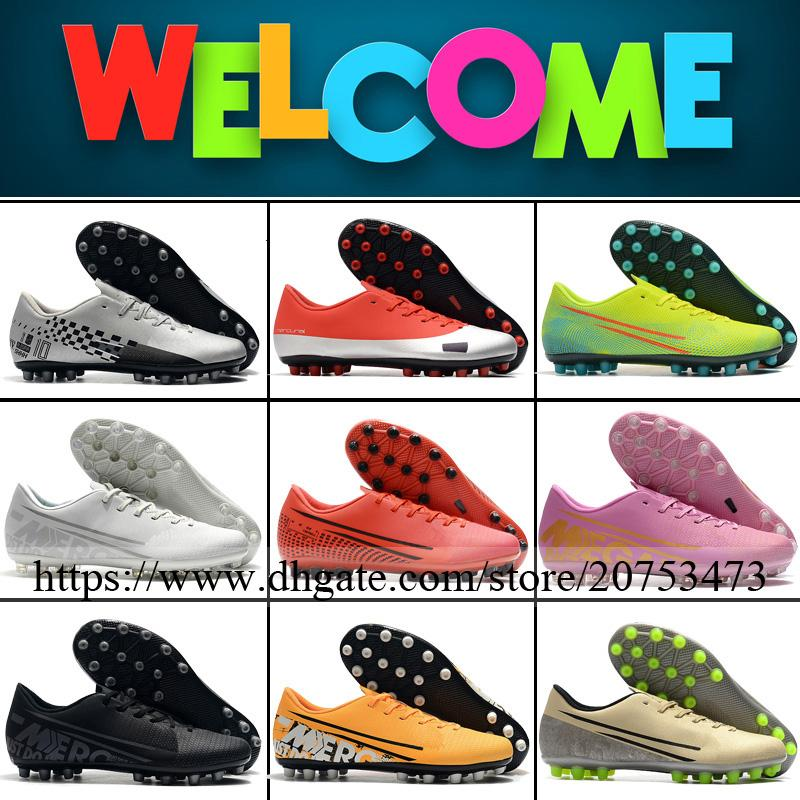 Mercurial Superfly XIII Academy AG Mens Soccer Cleats Football Boots Top Quality CR7 Neymar Outdoor Leather ACC Low Soccer Shoes 6.5-12