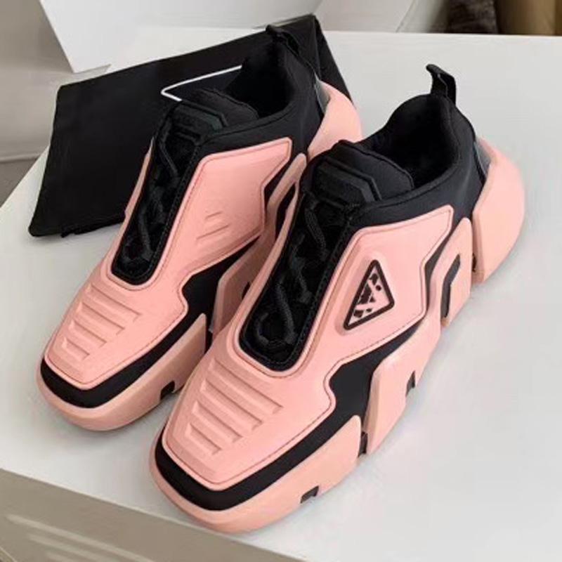Новые дамы бархат телячьей кожи и смешанные волокна слоновой дамы моды тенденции моды кроссовки повседневная обувь