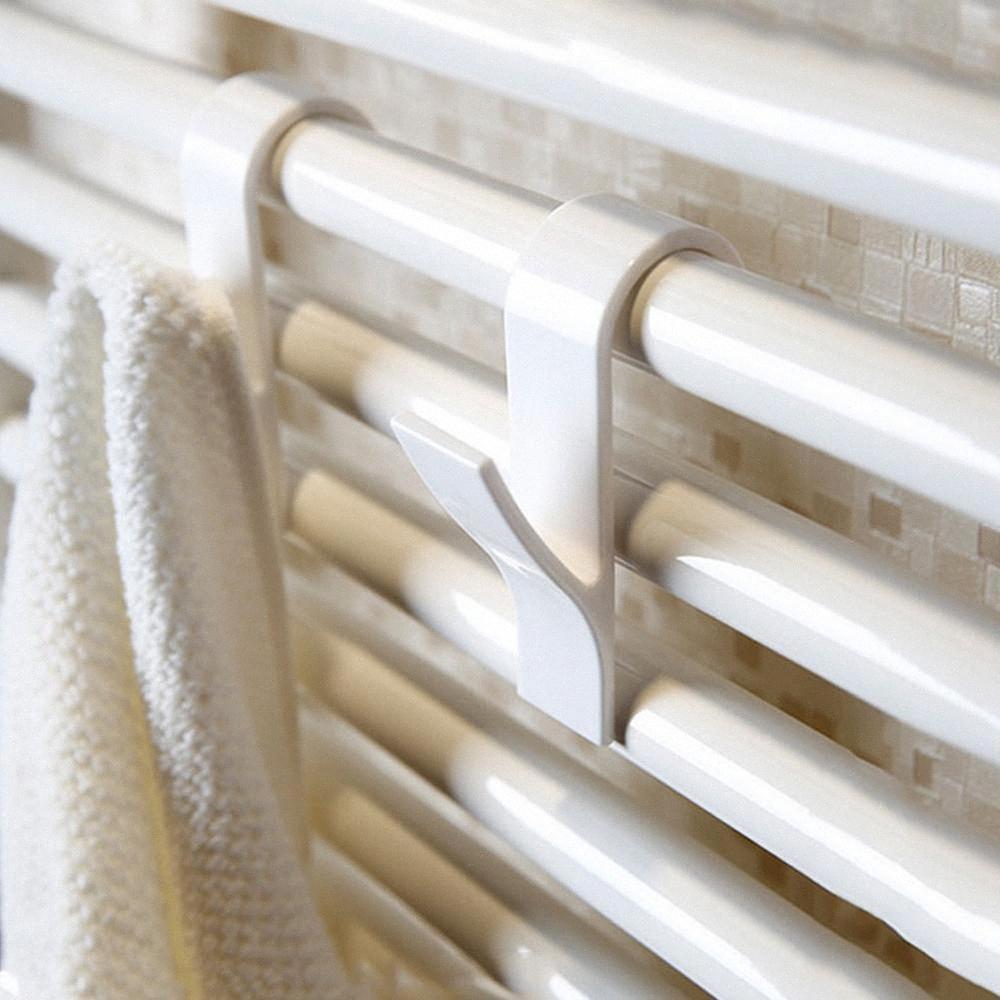 5шт Y Форма Hook Полотенце Вешалка для Полотенцесушитель Радиатор Трубчатые Ванна Крючок держатель для хранения стойку Ванна nPlJ #