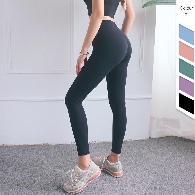 Qualitäts-Schwarz-Farbe Yoga-Hosen Heißer Verkauf für Gymnastik-Sport-hohe Taille Elastizität feste Stoff Gamaschen Außenhosen Neu
