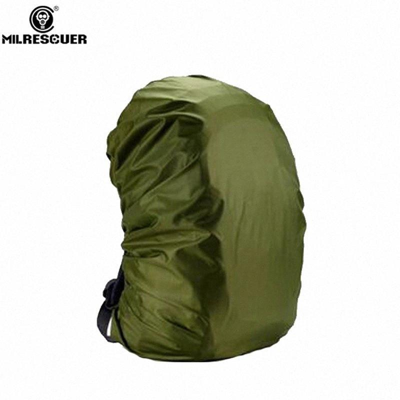 MILRESCUER Waterproof Rain Cover Backpack Raincoat Suit for 20L 30L 35L 40L 50L 60L Hiking Outdoor Cover Backpack Green H2QB#