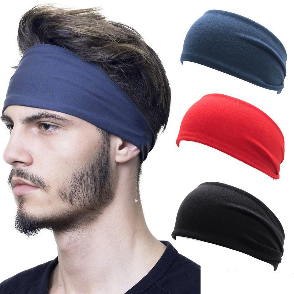 Hair Band Multiple Color Options Pure Color Mens Sports Sweat Absorption Hair Band Womens Yoga Running Hair Band