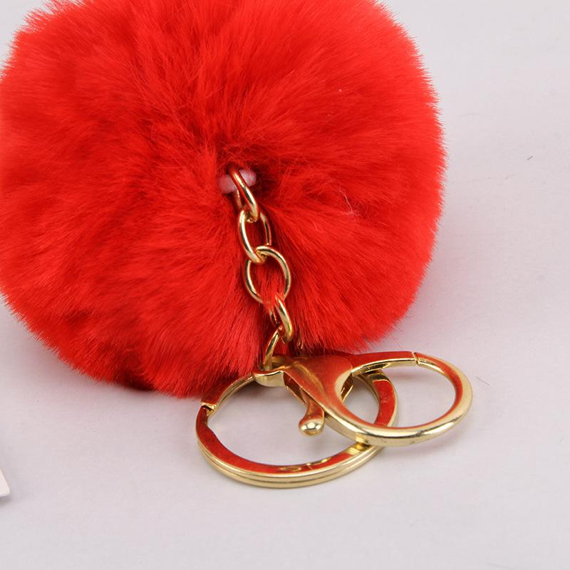 Designer Keychain 8cm Anti-hair Ball Key Chain Rex Rabbit Hair Ball Pendant Hair Ball Pendant Mobile Phone Accessories Bag 2020 Keychain
