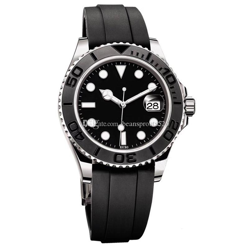 Großhandel Uhren, Top-Herren-Bewegung Uhren, automatische mechanische Bewegungen, Edelstahlgehäuse, Gummibänder, Klappschnallen,