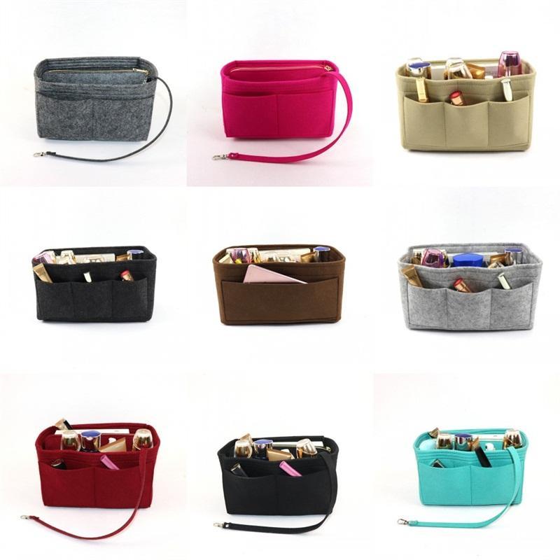 Feltro Insert Organizadores Bag Washs Gargles bolso cores ricas Bags simples e conveniente de armazenamento Bolsas Consideravelmente frete grátis 23jc E2