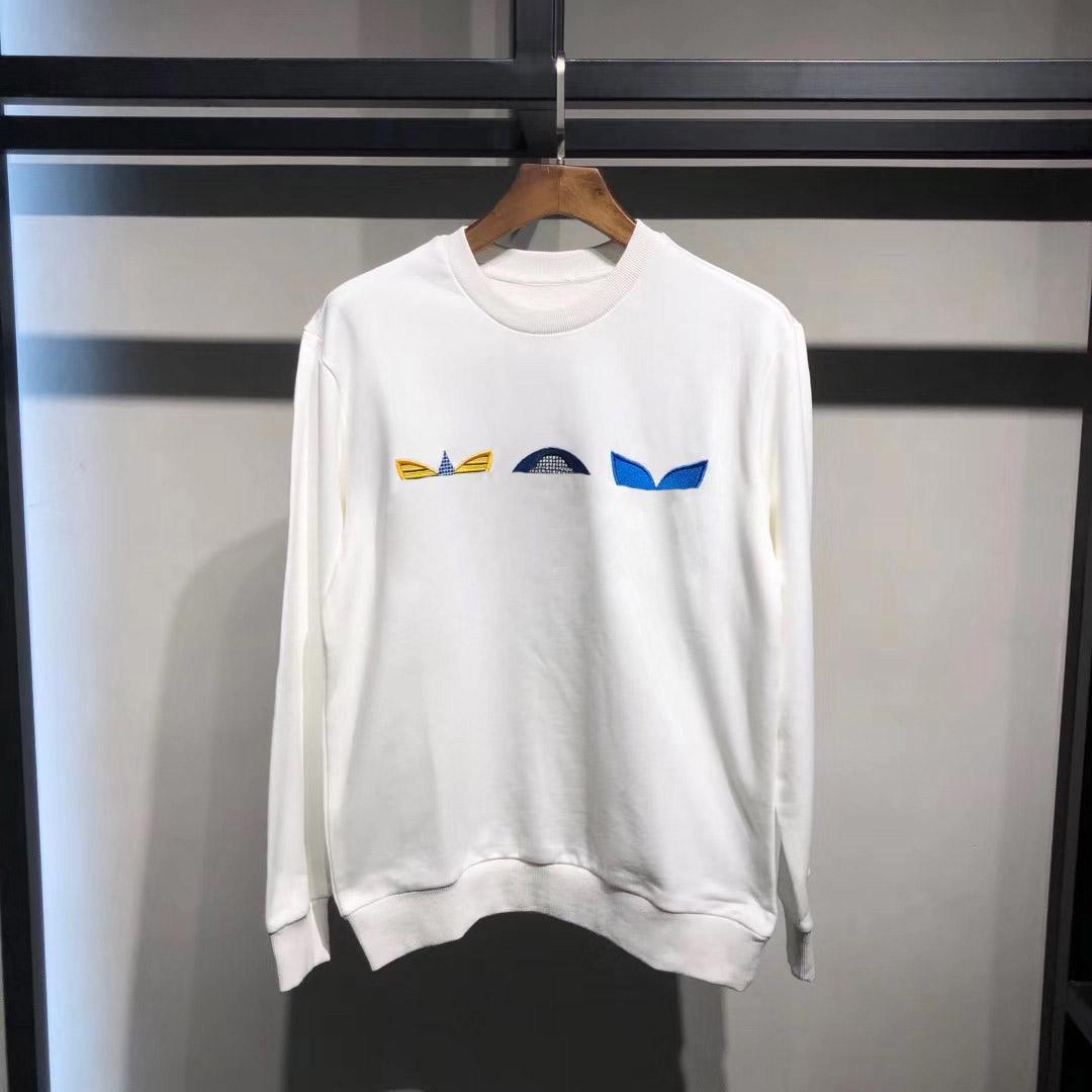FIORE MONOGRAM RICAMATO felpa uomo Desingers hoodies di modo felpata casuale Donne Pullover Coppia Via maglione nero bianco