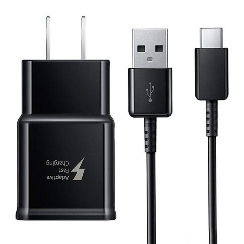 Adaptador de carregador de parede rápida Adaptativo OEM com 1.2m USB Tipo C cabo para Samsung Galaxy S10 S10 PLUS S9 S8 LG