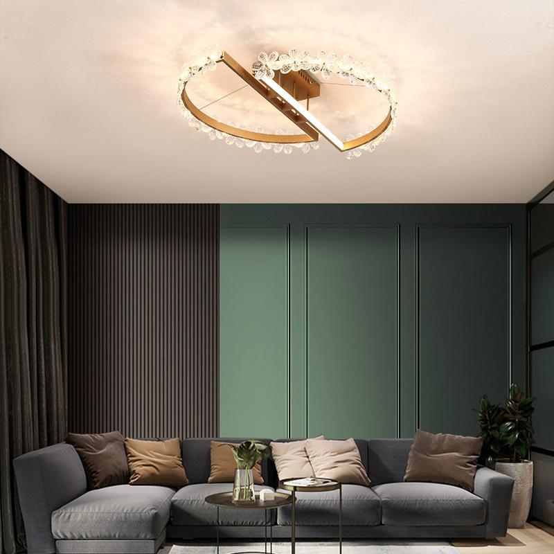 Modern Chandelier Kreativ Wohnzimmer Esszimmer Schlafzimmer Decke Kronleuchter Gold Hotel-Raum-Kleidung Shop Kristallbeleuchtung