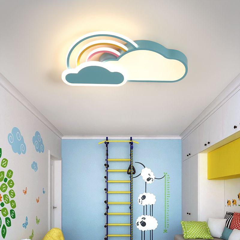 LED-Deckenleuchten Rosa / blaue Farbe für Kinderzimmer Schlafzimmer Wolkenform mit Fernbedienung Deckenleuchte Beleuchtung
