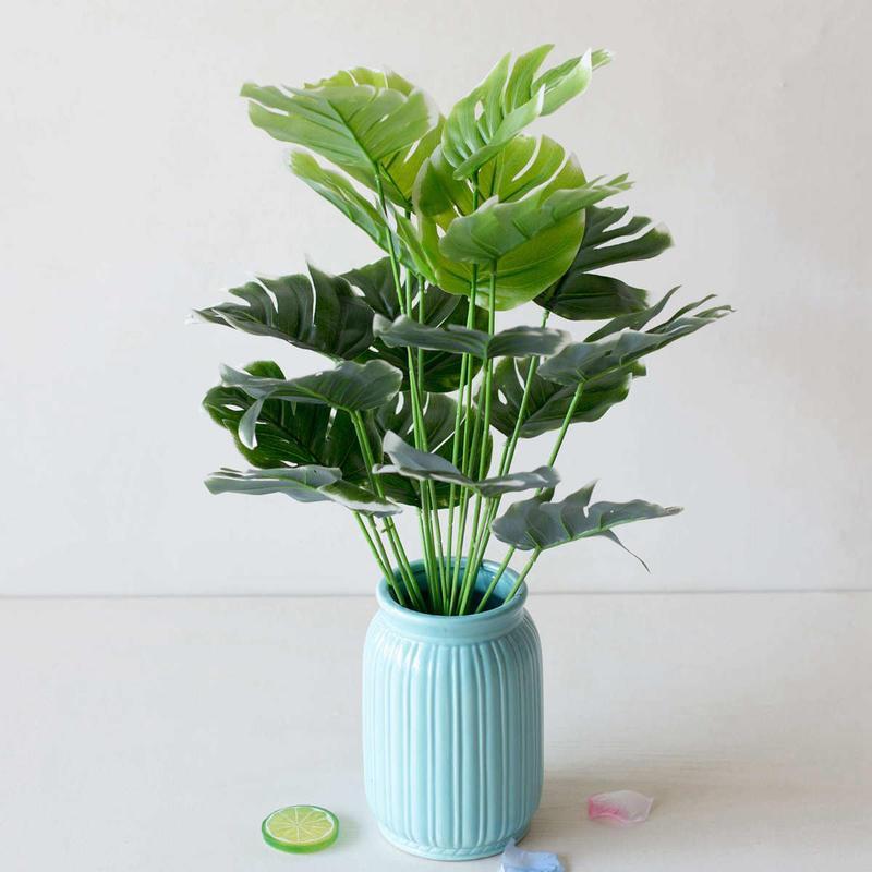 Yaratıcı Saksı Yapay Yapay Yapay Yapay Plastik Bitki Sahte İpek Ev Yatak Odası Yeşil Dekorasyon Bahçe Ofis Evi Odası Kapalı