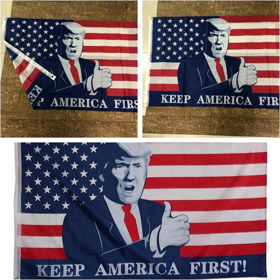 90 * 150 EE.UU. Presidente Bandera Elección Donald Trump 2020 Keep America Primer Presidente indicador de la bandera americana ayuda de la elección Banderas RRA3341