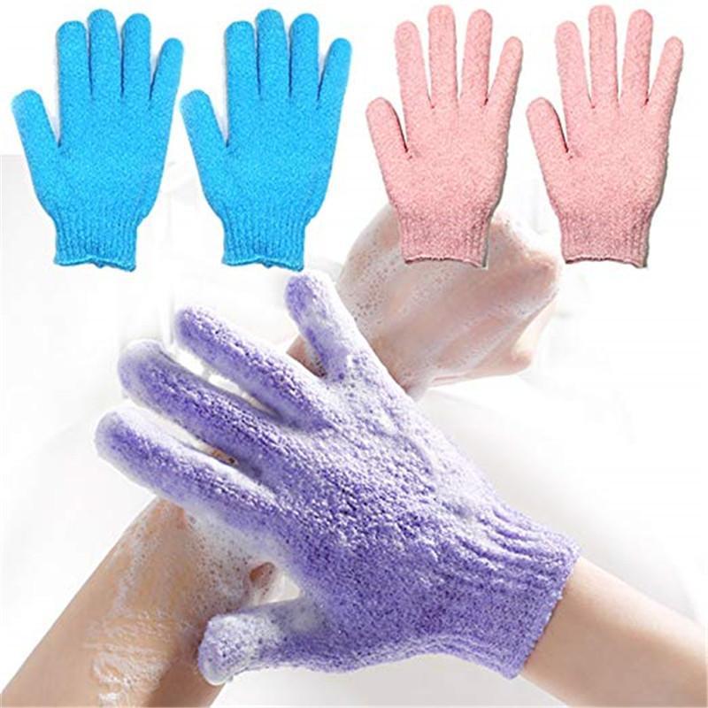 9 colori del bagno Guanti esfoliante guanti che idratano bagno Guanti Bagno Doccia Mitt Scrub Spa Massaggio Viso Corpo Ship LJJA5210