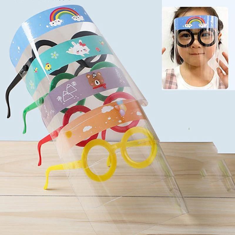 Máscara de proteção para o rosto crianças Crianças Carton Transparente Full Face Capa Protetora Film Anti-fog premium Escudo do partido face PET Head Cover IIA323