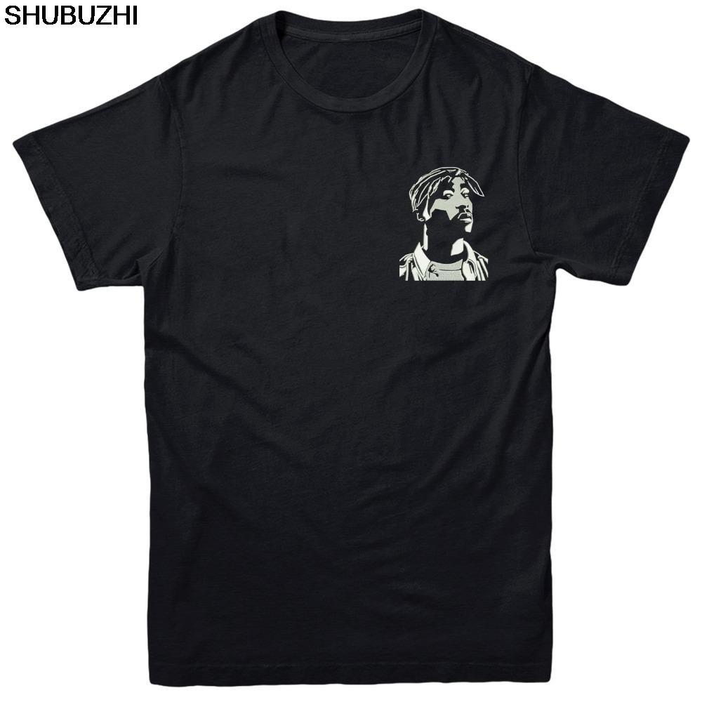 Tupac visage T-shirt, Design Visage célèbre Hiphop Roi brodé Tee Top New Marque-Vêtements T-shirts Hip-Hop simple Splicing