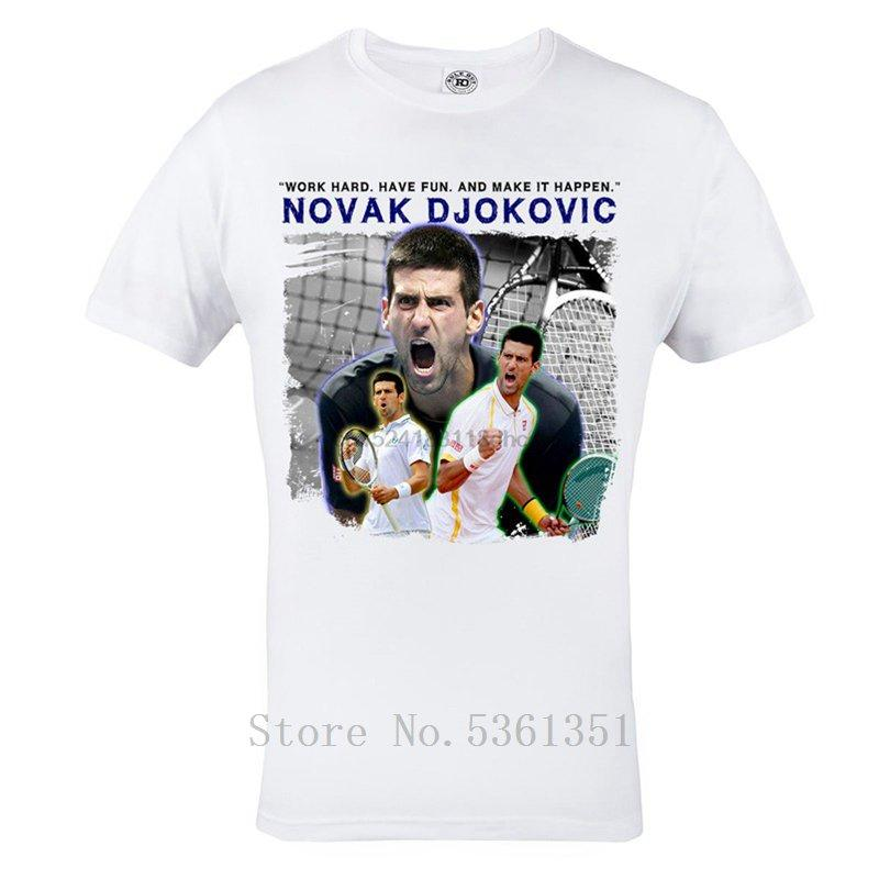 Novak Djokovic Tennis Tshirt Mens White Top Tee Tennis T Shirt Cotton Fashion Printed Mens T Shirt Homme T Casual Tshirt Mens Quirky T Shirts Hilarious Shirts From Fjdh08 10 06 Dhgate Com