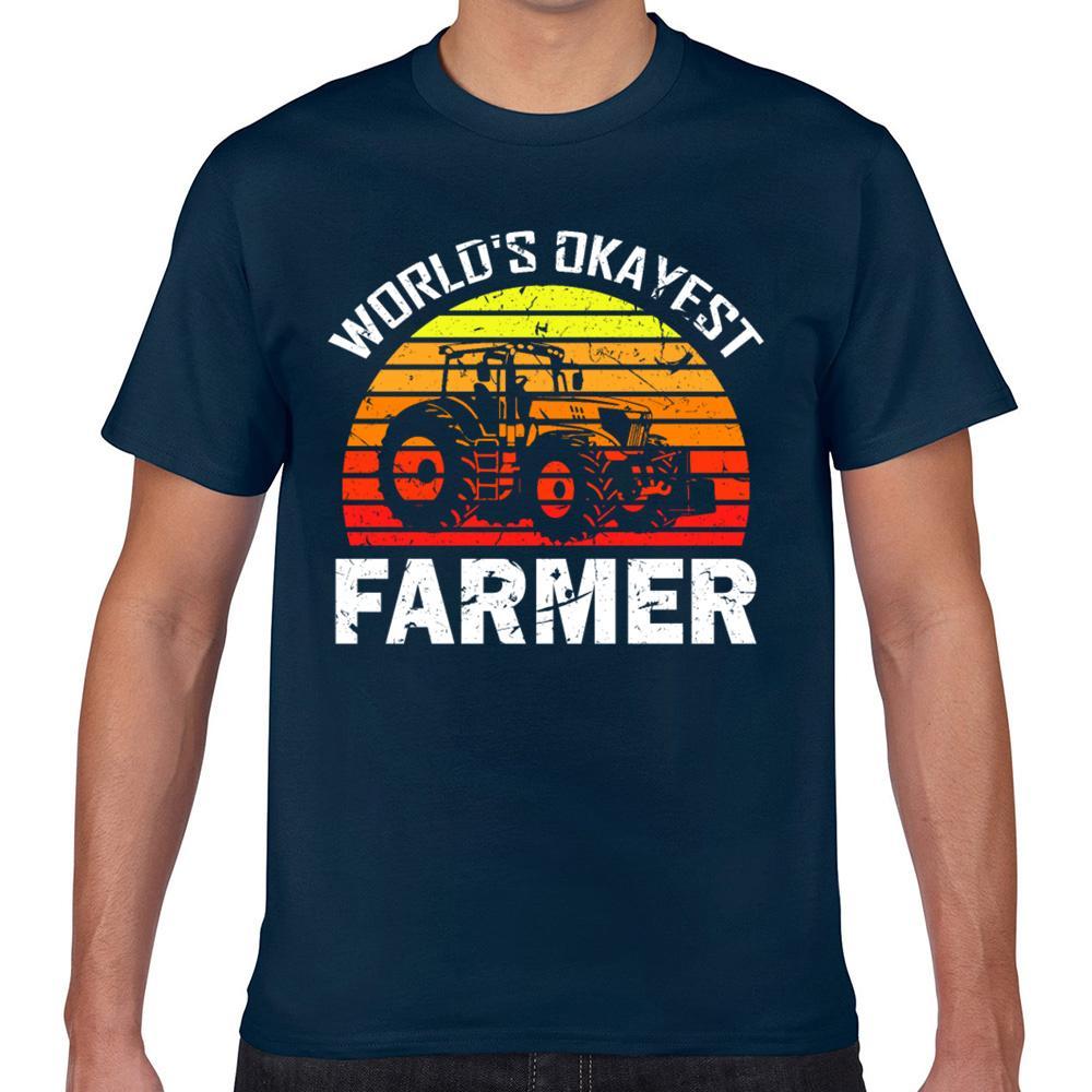 Tops T shirt mundos Homens okayest fazendeiro engraçado agricultura jardinagem Kawaii Inscrições Cotton Masculino Camiseta