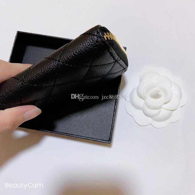 تصميم أزياء كلاسيكية سوداء سستة اليد حزمة بطاقة تأخذ C محفظة محفظة معدنية حامل البطاقة إلكتروني للسيدات جمع السلع الفاخرة لكبار الشخصيات هدية
