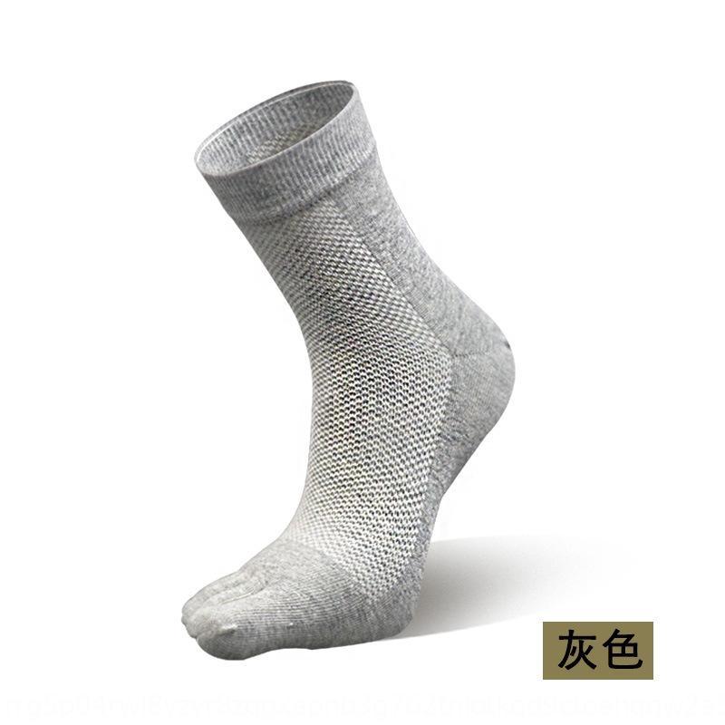 четыре сезона носок для мужчин Four Seasons в середине трубки тонкие спортивные evTw3 Zhenzheng пять пальцев Zhenzheng пять пальцев МУЖСКИЕ сетки дышащий хлопок линии S