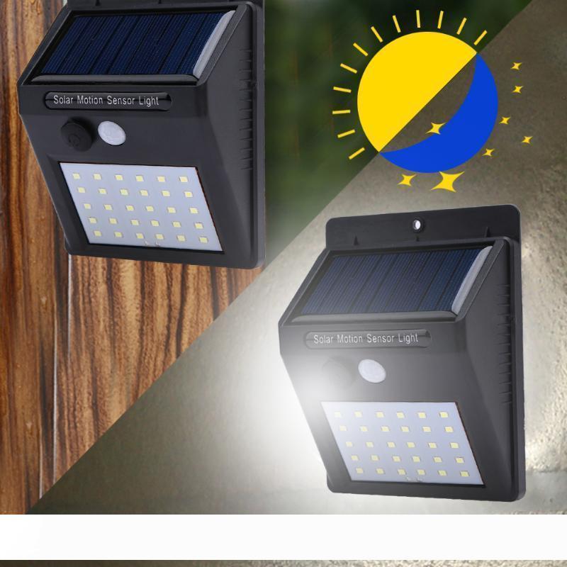 Pannelli impermeabile 30LEDs luce solare di energia solare PIR del sensore di movimento del giardino LED Luce esterna Pathway senso solare della luce della lampada da parete