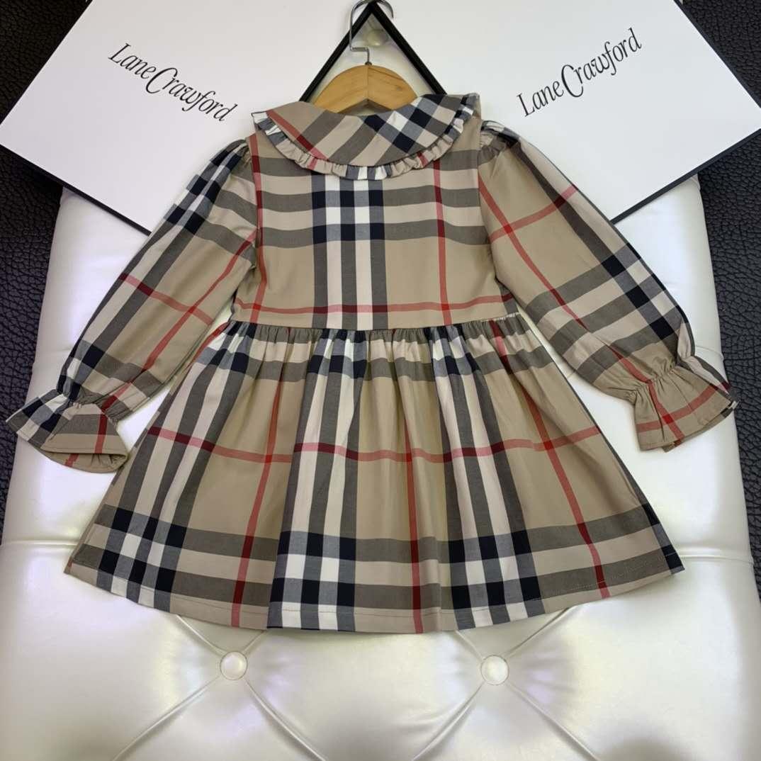 kid AUTUMN clothes set plaid designer little girls outfits 1000-140 cm baby girl flower wedding dress cotton material kid cheap clothes