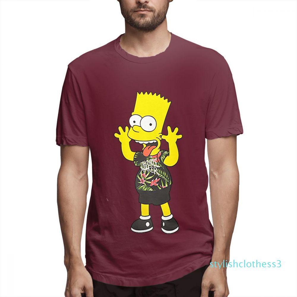 Le Camicie Designer Simpson Moda Donna Camicie maniche corte Mens Shirt Il c4909s03 Simpson stampato magliette causale Hight Via