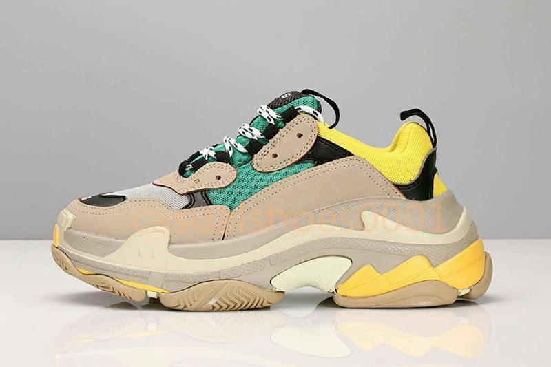 Hot! Em 2019, de Balanciaga nova Triple S sneaker Triple S casuais pai sapatos, homens e mulheres bege Ceahp esportes designer de sapatos tamanhos 36-45 c21