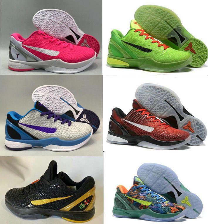 2020 sapatos New Grinch Black Mamba VI 6 Del Sol para venda KB Bryant homens quentes Tênis de basquete armazenar US7-US12 LeBron James 17