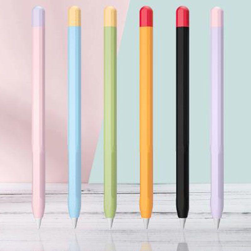 سيليكون غطاء من الجلد لقبضة الجيل 2 أبل قلم رصاص قلم رصاص 2 حالة تغطية اكسسوارات لينة الحقيبة واقية مع حزمة البيع بالتجزئة DHL مجانا