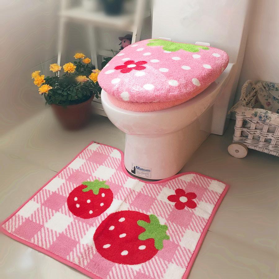 3Pcs/Set Bathroom Soft Toilet Seat Cover+O Ring Sets+U Shape Carpet Thickening Warmer Bath Mat Closestool Lid Cover Toilet Pad