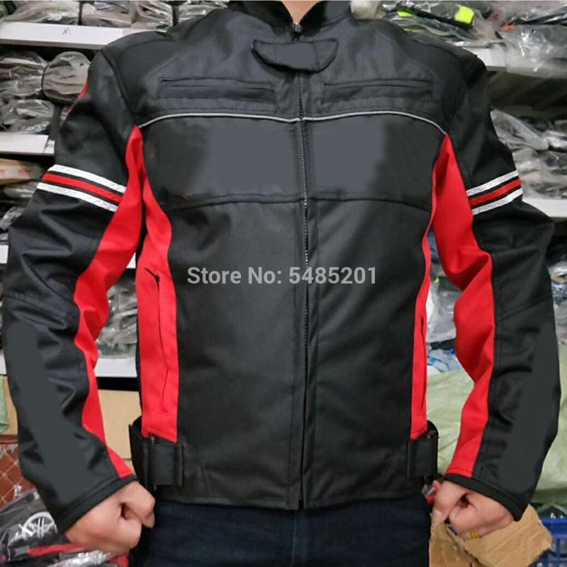 Koruyucular ve Pamuk Mavi Kırmızı Moto Jersey Astar ile Su'nun zuki Oxford Tekstil Motosiklet Kış ceketi