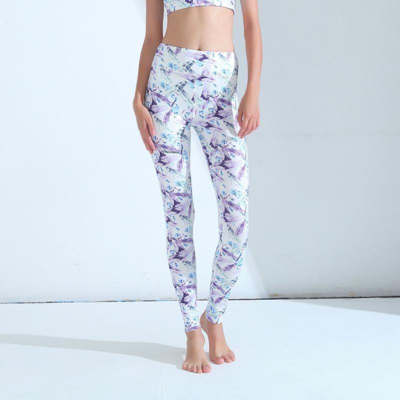 Trajes de yoga Leggings deportivo Gimnasio Ropa de gimnasio Alto Cintura Compresión Pantalones de compresión Sexy Correr Impresión floral Medias Mujeres Fitness