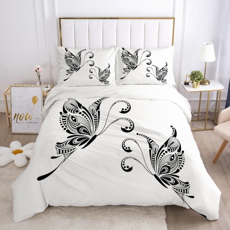3D الفراش مجموعات لحاف يغطي وسادة شمس غطاء لحاف مجموعات فرش السرير سرير بسيط بياضات التوأم مزدوجة واحدة زهرة المنسوجات المنزلية
