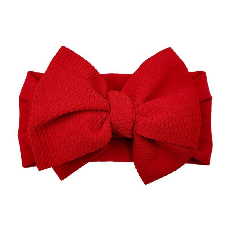 Bebé Bowknots Turban Headbands Niña Niña Gran Arco Nudo Hairbands Color Sólido Headwear Head Wrap Wrap Accesorios