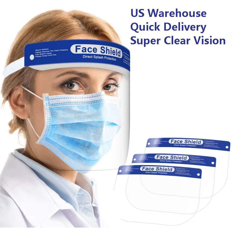 PRINCIPAÇÃO DE DHL Escudo de face grossa com face transparente e tampa elástica da tampa da placa completa anti-cuspir