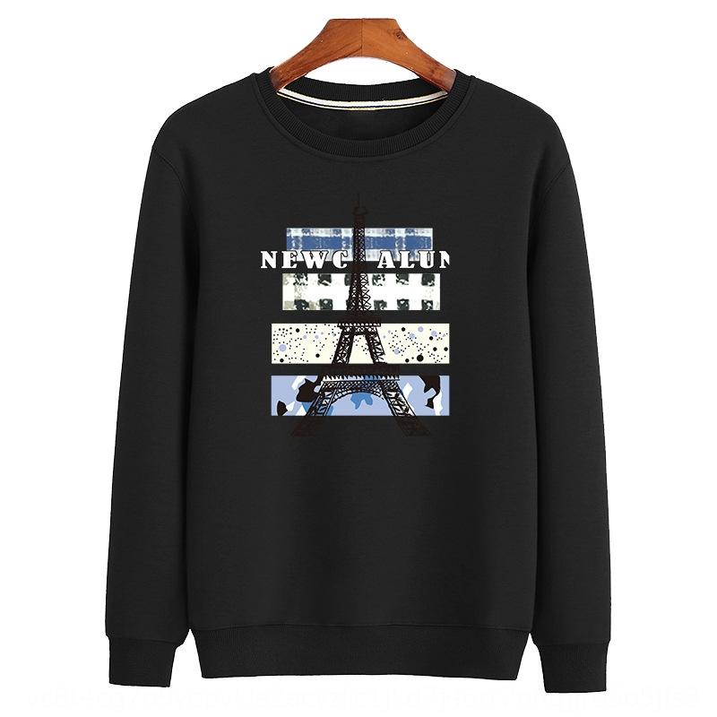 Autumn and Winter loose large size men's long-sleeved multi-cotton Top sweater sweater round neck printing trendy top WY918