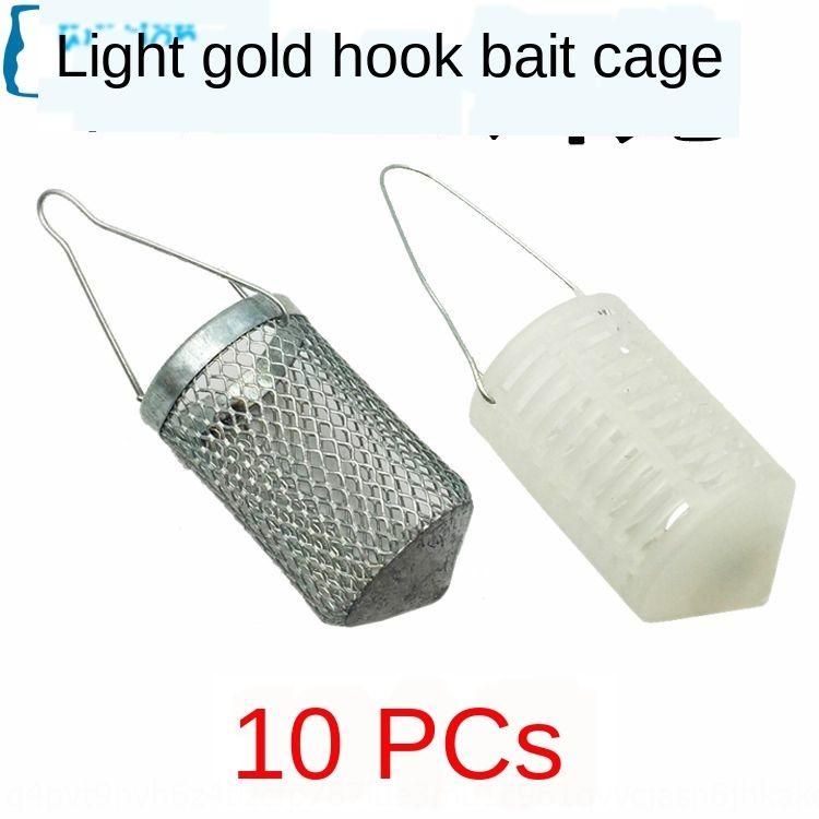 stripe string fishing 10 metal bait cage bait cage stripe string hook 7 star Hook white Platinum striped Platinum White Gold