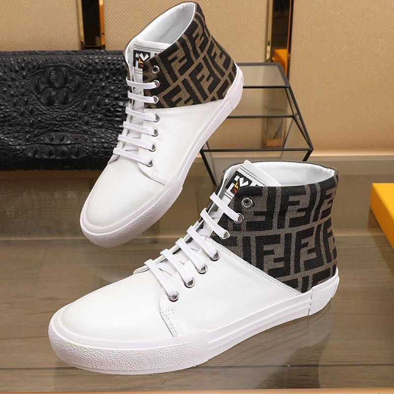 Drop Ship Mens Shoes Lightweight Fashion Leather Design Comfortable Luxury Sneakers High Top Lace -Up Sports Men Shoes Herren Sportschuhe